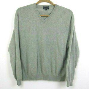 Club Room Mens Sweater Long Sleeve V Neck Cashmere